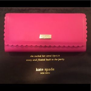 Kate Spade ♠️ Leather Cyndy- Maple Court Wallet